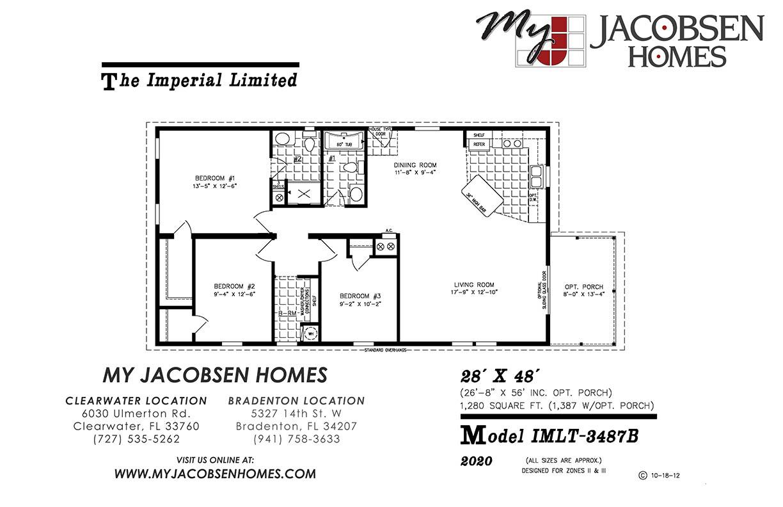 IMLT-3487 Tarpon 2019 - Jacobsen Manufactured Home - MY ... on 26 x 40 home plans, 30 x 30 home plans, 20 x 20 home plans,
