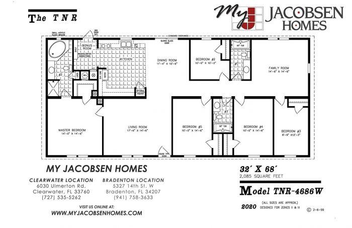 5 Bedroom Floorplans My Jacobsen Homes Of Florida